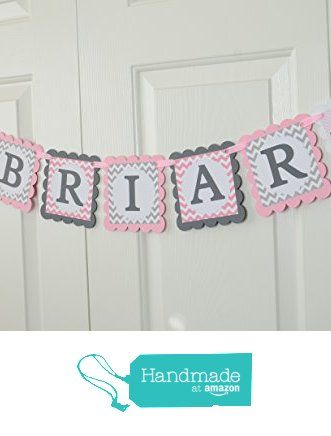 Elephant Name Banner, Birthday Party, Baby shower Banner, Pink Elephant, Welcome Baby Banner, Grey and Pink Banner, Girl Banner from LisamarDesigns http://www.amazon.com/dp/B019UVGB8Y/ref=hnd_sw_r_pi_dp_fXyGwb1EFVQFS #handmadeatamazon
