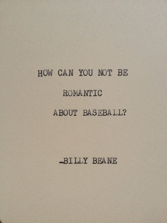 THE BILLY BEANE Typewriter quote on 5x7 cardstock by WritersWire, $5.00