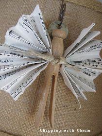 Engeltje van oude houten wasknijper