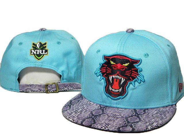 NRL Snapback Hats Snakeskin Penrith Panthers Blue