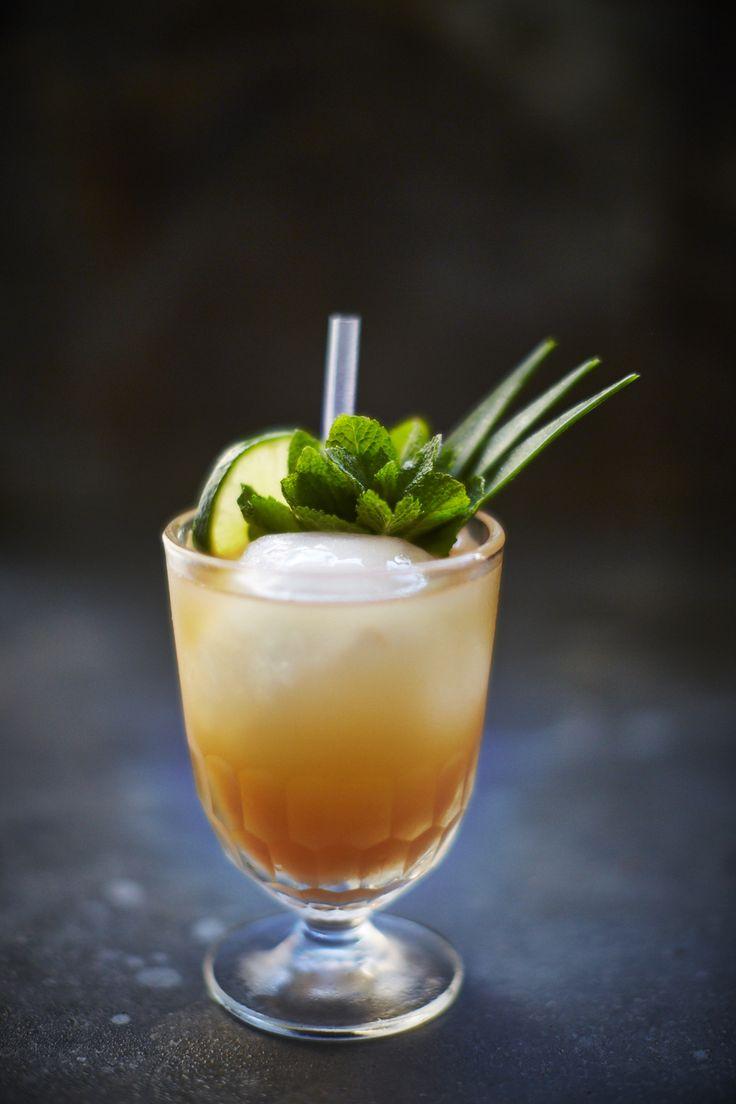 The Mai Tai cocktail - rum, lime juice, orange liqueur and almond syrup