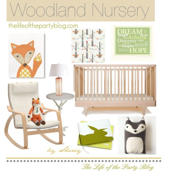 Woodland Nursery by thelifeoftheparty on Polyvore