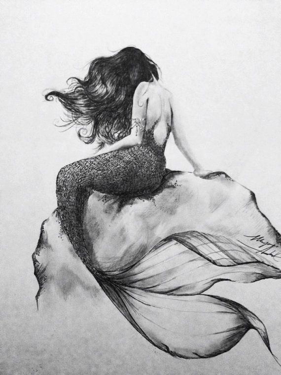 Check out the amazing art done by my amazingly talented friend Megan ( @ShepherdWifey)! Charcoal Drawing Mermaid At Heart by ChicCharcoals on Etsy