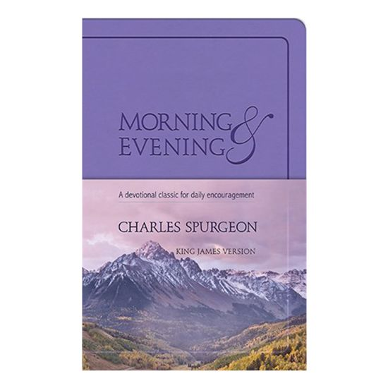 Spurgeon's Morning and Evening Devotion (Flex-soft cover in Lilac) King James Version