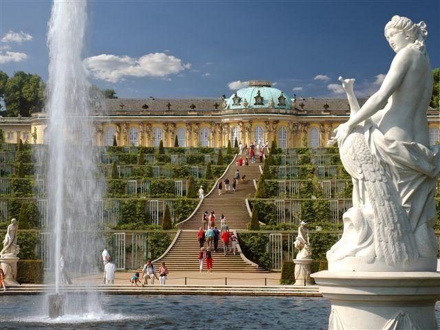 Schloss Sanssouci - der Höhepunkt des Ausflugs