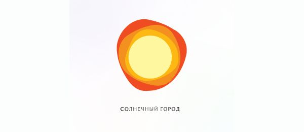 sunny city logo idea 49 http://hative.com/sun-logo-designs-inspiration/