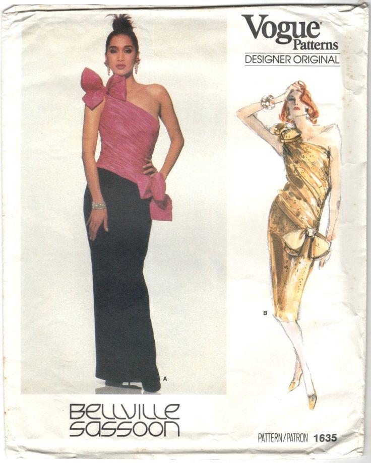 1980s Bellville Sassoon formal dress pattern - Vogue 1635