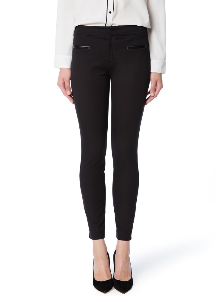 Essential City Peg - Black Pant, Tailored Pant