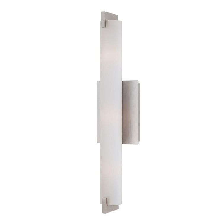 Photos On Eurofase Zuma Collection Light Brushed Nickel Wall Sconce