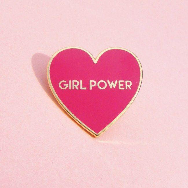 Aposte nos broches   Girl Power