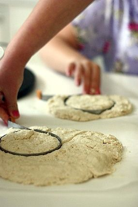 Easy Homemade Baking Powder Biscuits - cooking with kids