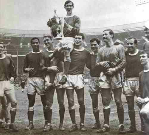 Wealdstone 3 Hendon 1 in April 1966 at Wembley. Wealdstone celebrate winning the FA Trophy Final.