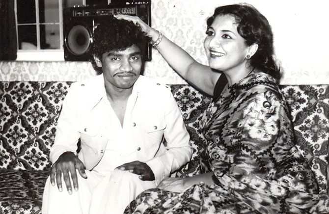 Johnny Lever and Tabassum.