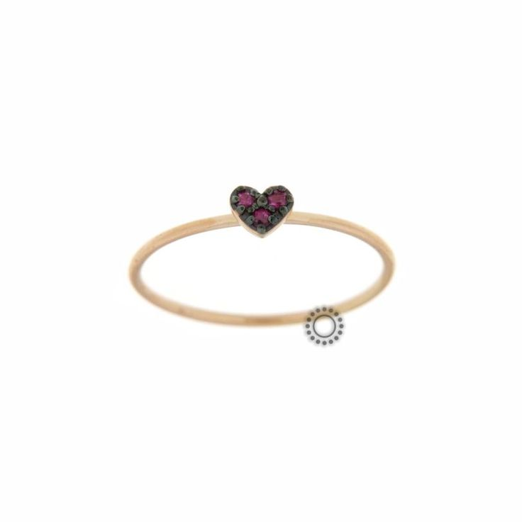 Πολύ μικρό λεπτό δαχτυλίδι ροζ χρυσός Κ18 σε σχήμα καρδιάς με 3 ορυκτά ρουμπίνια σε μαύρο πλατίνωμα   Δαχτυλίδια ΤΣΑΛΔΑΡΗΣ στο Χαλάνδρι #κόκκινη #καρδιά #ρουμπίνι #δαχτυλίδι