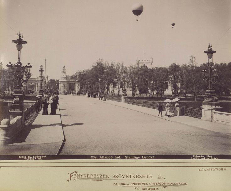 """1896, """" Állandó híd"""", azaz a Városligeti híd"""