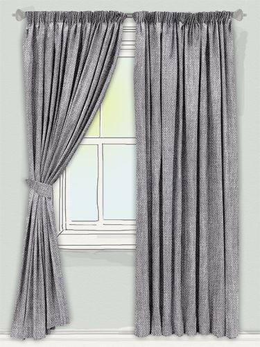are you looking for a pair of curtains that will bring a modern edge and create a more contemporary atmosphere in your home? Look no further than these striking Beaumont Linen Grey curtains... #linen #curtain