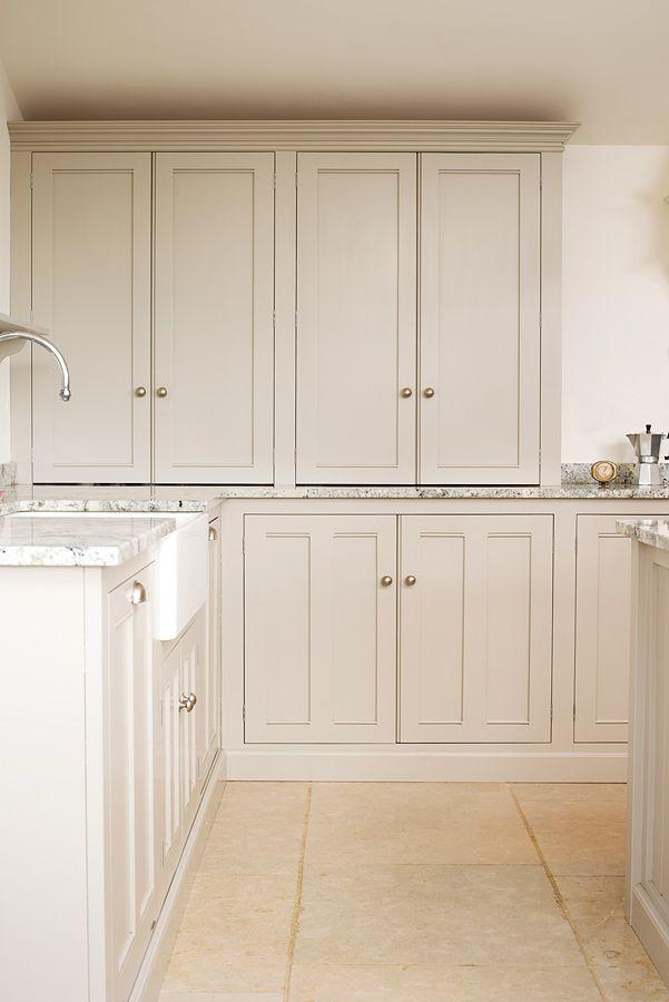 The Dijon Tumbled Limestone against a deVOL Classic Kitchen. A stunning combination.