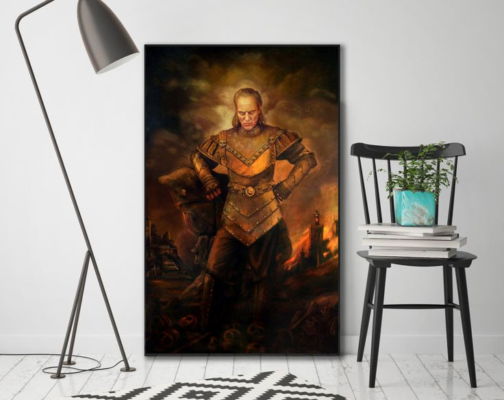 Vigo the Carpathian, Ghostbusters Painting, Ghostbusters II, - Canvas Gallery Wrap or Matte Photo Print by WallMac on Etsy https://www.etsy.com/listing/253787386/vigo-the-carpathian-ghostbusters