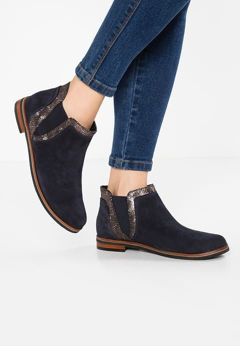 Ankle boots - ocean/multicolor