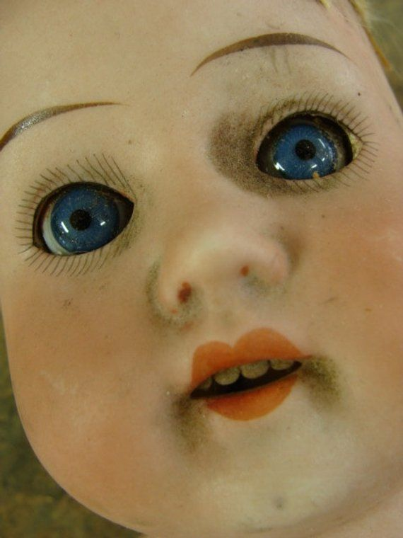 Discounted Large Antique German Doll Glass Eyes Jointed Kid Etsy German Dolls Dolls Antiques