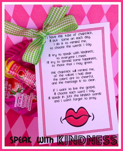 chapstick handout for clean language.  Way cute!