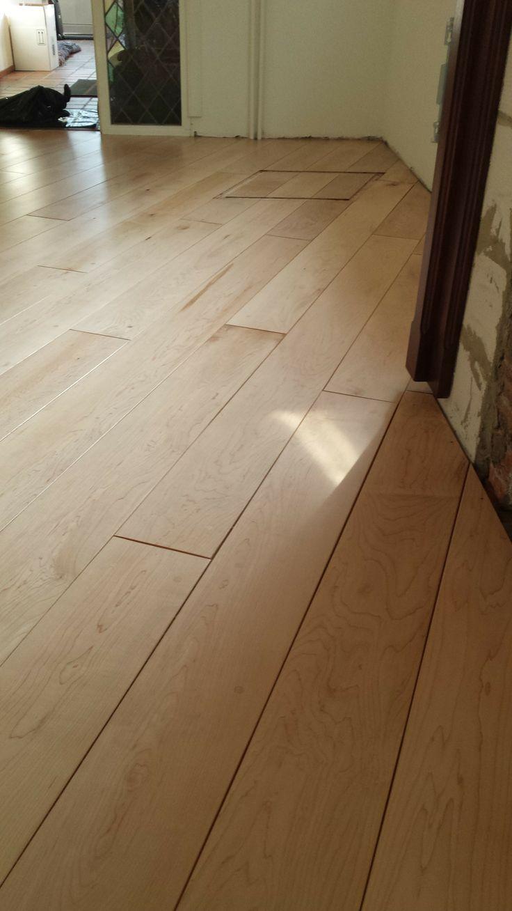 maple plank na het schuren