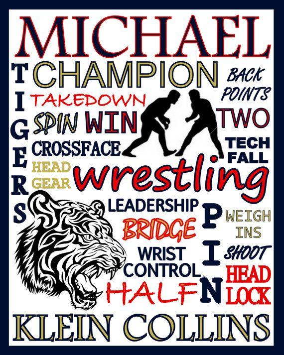 Wrestling Print  custom wrestling poster  by PinksPerfections