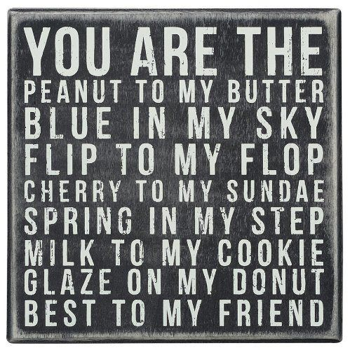 Friendship Quote Wood Sign. Best Friend Birthday Gift Ideas #friends #quotes