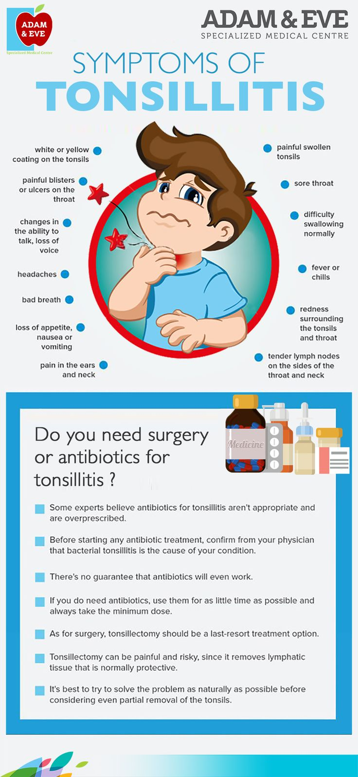 symptoms of tonsillitis#tonsillitis  #throatinfection  #throat  #entspecialist  #throatpain    ADAM & EVE Specialized Medical Centre Near Royal Rose Hotel Pink Building (501) Electra Street, Abu Dhabi, UAE     Contact Us : +971 2 676 7366 / +971 52 1555 366 / 055  1555366    Email : info@aesmc.com  visit us - http://aesmc.com