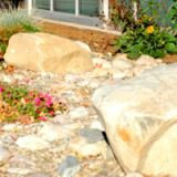 Try This Project to Increase Landscape Drainage on Your Propery: Incorporate plants to add color to dry creeks.