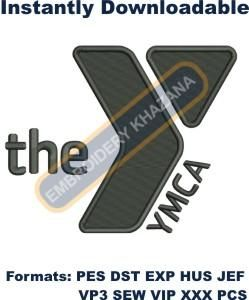 YMCA logo 5inch tall Embroidery Design