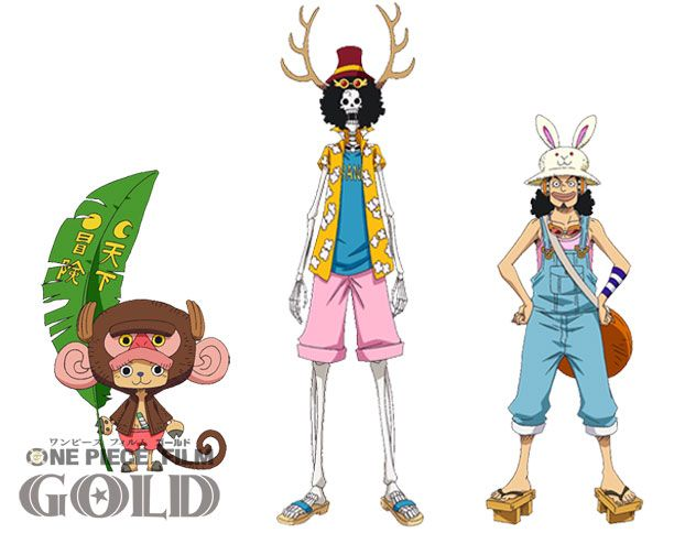 One Piece Film Gold Animes Character Costumes By Original Creator Unveiled