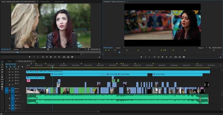 Montage vidéo avec timeline Premiere Pro du clip de La Plume - Mad World (cover)