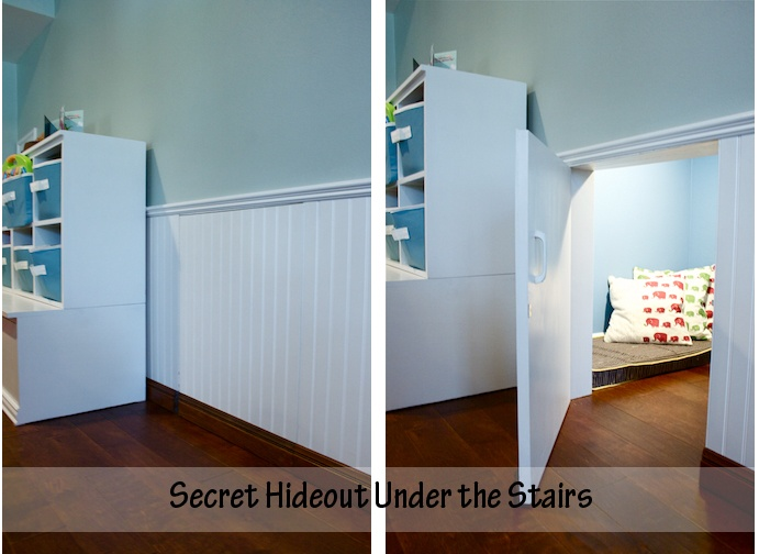 kid hideout under the stairs
