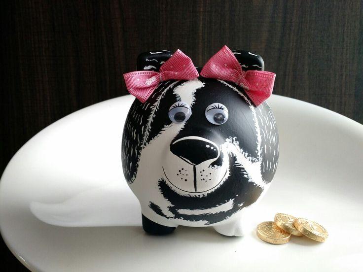Porky alcancía pintada perrita Cocker Spaniel @porkysialcancias
