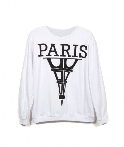 #Paris #Effiel #tower #white #sweatshirt #insanejungle