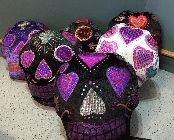 Check out this item in my Etsy shop https://www.etsy.com/au/listing/253544259/original-homemade-sugar-skull-cushion