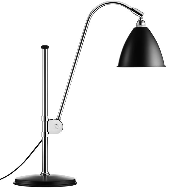 GUBI // Bestlite BL1 Table Lamp in black/chrome