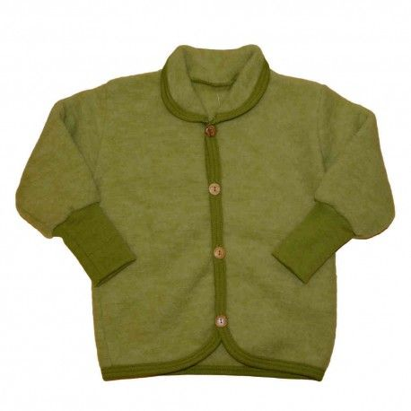 Wool jacket baby, merino wool, green, Cosilana