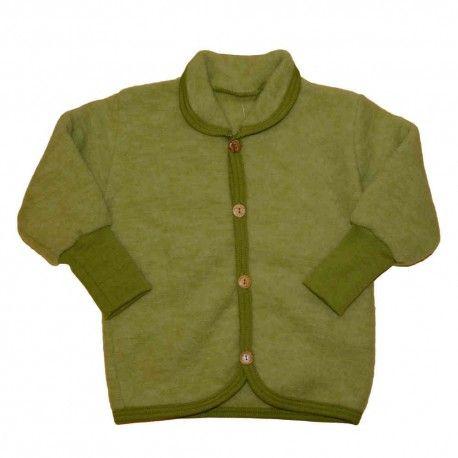 Wool jacket baby, merino wool, green, Cosilana