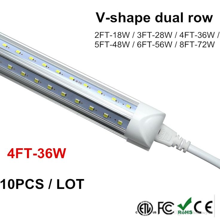 135.93$  Watch now - http://aliwm6.shopchina.info/go.php?t=32801974347 - V Shape LED Tube T8 4 Foot 4ft Tube Integrated LED Tubes Light Replace Fluorescent Bulb Light AC85-265V 270 Degree 1.2M 1200MM 135.93$ #buychinaproducts