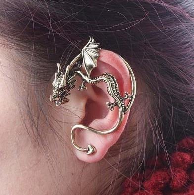 Hot Vintage Punk Wind Temptation Antique Bronze Gothic Dragons Cuff Stud Earring: Dragon Ears Cuffs, Fashion, Style, Dragon Ear Cuffs, Dragons, Dragon Earrings, Cuffs Earrings, Jewelry, Accessories