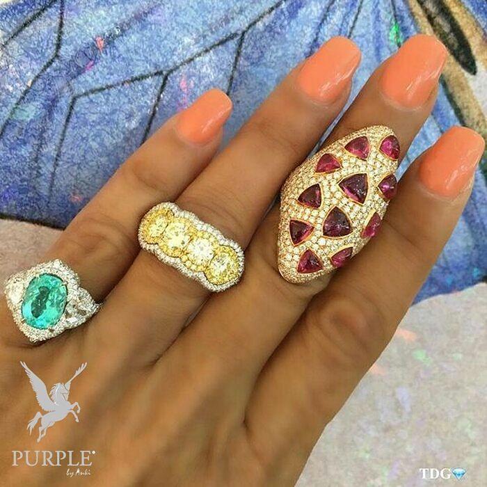 Feel the elegance with these Paraiba ring fancy yellow diamond ring and ruby delight via @the_diamonds_girl #purplebyanki #diamonds #luxury #loveit #jewelry #jewelrygram #jewelrydesigner #love #jewelrydesign #finejewelry #luxurylifestyle #instagood #follow #instadaily #lovely #me #beautiful #loveofmylife #dubai #dubaifashion #dubailife #mydubai #Ring #FancyYellow #Ruby