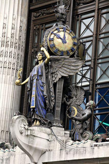 LONDON..... OXFORD STREET.  Selfridges Clock back when design meant craftsmanship and beauty♔PM