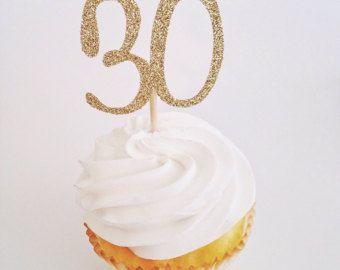 Torta de treinta escritura número pastel Topper por PopOfHappy