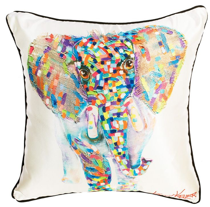 Baby Elephant cushion cover tracey keller