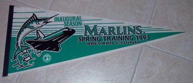 1993 Florida Marlins Inaugural Season Spring Training Pennant New #FloridaMarlins