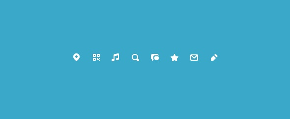 I love the simplicity of these icons, and how they pop from the background.