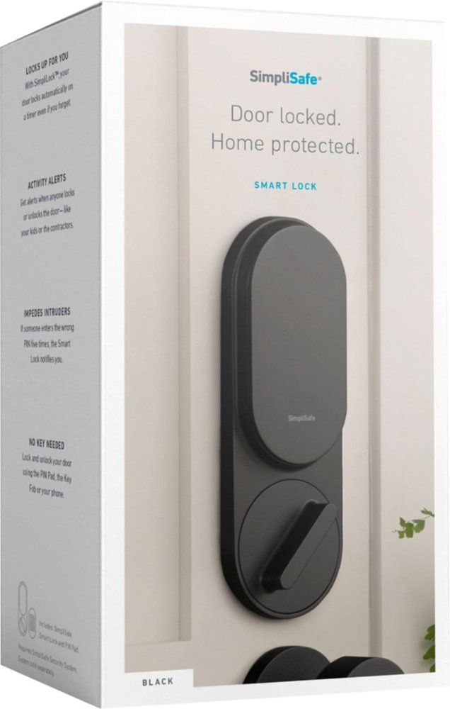 Simplisafe Smart Lock Pin Pad Black Ss3 Lk Bb Best Buy Cool Things To Buy Home Security Devices