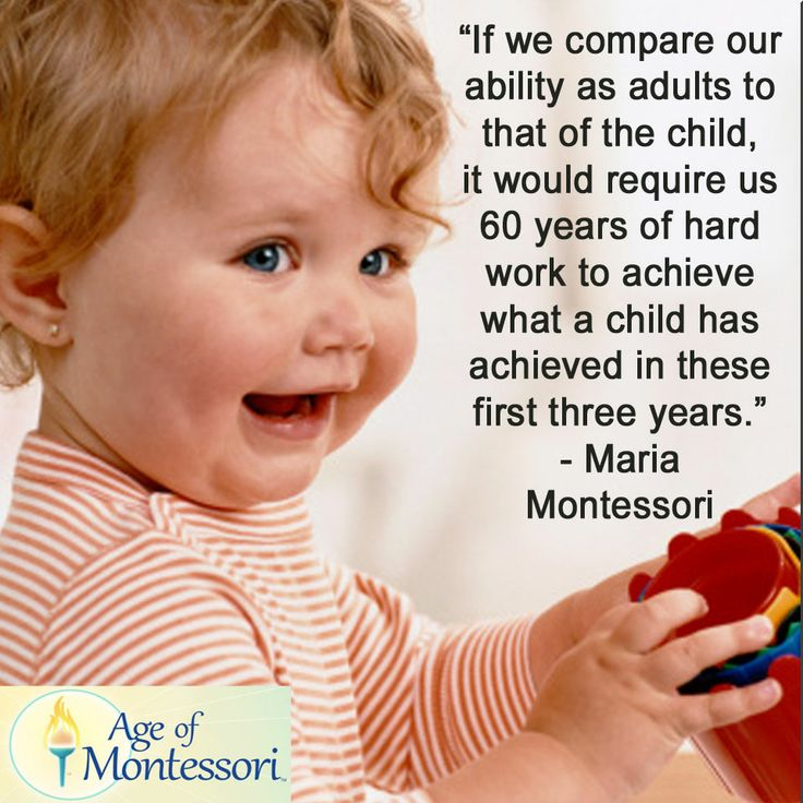 Montessori For Infants And Toddlers Montessori Quotes